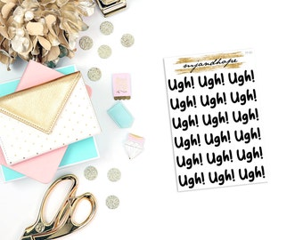 Ugh! Stickers | TT01 | Teeny Tiny Planner Stickers