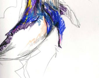 Whale - Printable Art - Decor - A5