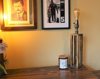 Industrial Desk Table Lamp / edison lamp / pipe lamp / Rustic lighting / reading lamp / Office decor / steampunk lamp / Unique light