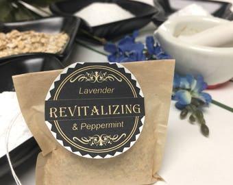 Revitalizing Foot Soak Tub Tea - Regenerating & Invigorating Bath Soak with Lavender and Pepperment Essential Oils, Epsom Salts
