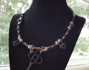 Black Key Hemp Necklace