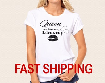 Birthday Queen Shirt, Queen Are Born In February Shirt, Queen Are Born In March, Queen Birthday Gift, Gift for Wife, Gift for Girlfriend, B7