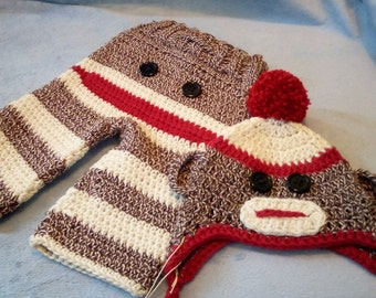 Newborn Sock Monkey Set
