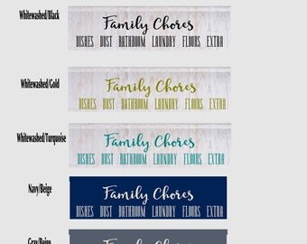 FAMILY CHORE BOARD with Crown Molding and 6 personalized name tags included choose your colors and font styles