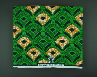 Ankara Fabric Sold By Yard, Wax Print Cotton for African Clothing, African Quilt Fabric with Arabesque Design, Cod.274