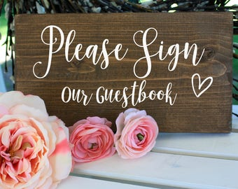 Wood Guest Book Sign, Guest Book Sign, Rustic Guest Book, Wood Guest Book, Wood Signs, Wedding Signs, Rustic Wedding, Wedding Decor