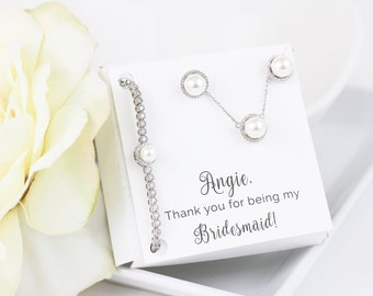 Pearl Wedding Jewelry | Pearl Bridal Jewelry | Pearl Bridesmaid Sets | Pearl Necklaces | Pearl Earrings | Pearl Bracelet | Bridesmaid Gift