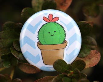 "Happy Cactus 1.25"" Pinback Button"