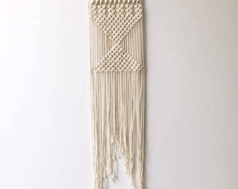 Natural Cream Cotton Macrame Wall Hanging