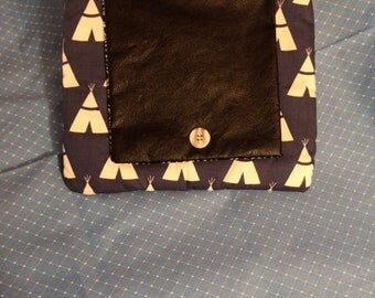 Purses  Clutch  Bags  Teepee  Native American  Gifts  Small  Black White  Accessories  Cultural