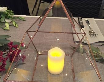 Geometric Glass Terrarium + Copper Framing