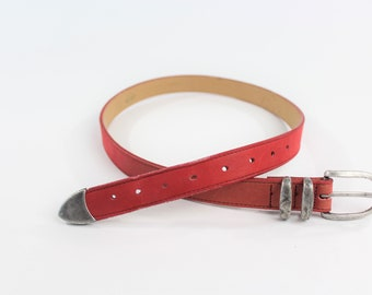 Red Leather Dockers Belt