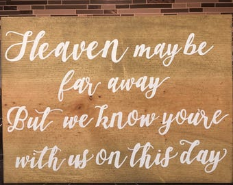 Memorial Sign - Custom Hand Painted - Pallet Wood