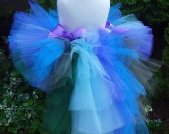 Bustle Tutu, Peacock Tutu, Purple Blue Tutu, Peacock Costume, Birthday Tutu, Dance Costume, Pageant Tutu, Halloween, Baby, Toddler, Girl