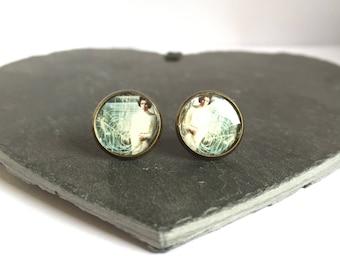 Face of the Reistance - Brass Stud Earrings