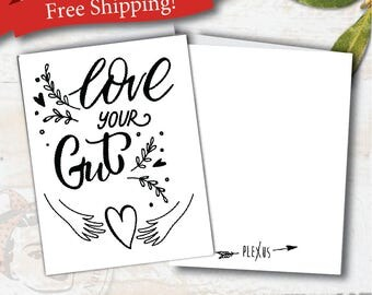 plexus, plexus card, plexus swag, love your gut, plexus Notecards, plexus team gifts, with Envelopes