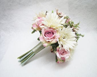 Ivory Bridal Bouquet Bridesmaid Maid Of Honour Wedding