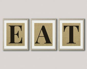 Eat Wall Decor eat letters | etsy