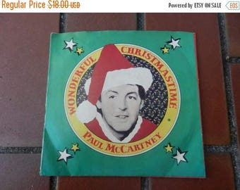 Summer Sale Vintage Wounderful Christmas Paul McCartney Record