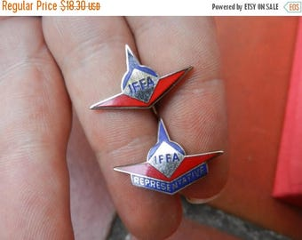 Easter Sale 2 Vintage The Independent Federation of Flight Attendants Pins