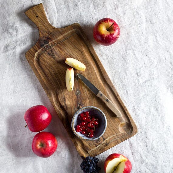 French Olive Wood Cheese Board