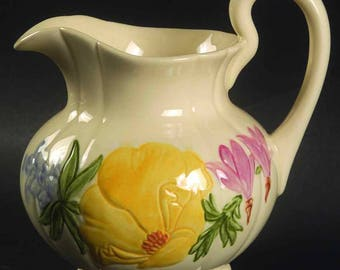"Franciscan ""Wildflower"" Creamer and Covered Sugar Bowl"