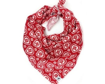 Nordie Heart Red Christmas Dog Bandana
