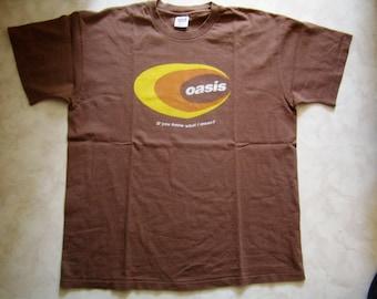 OASIS, pure cotton Brown, Vintage T-shirt XL