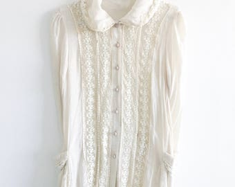 Vintage Edwardian Chiffon Blouse *Sale* 40% off