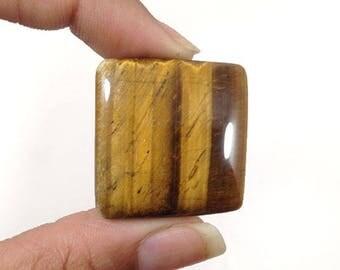 Large Tiger Eye Cabochon 74Ct (31x31x7 mm) Crazy Shape Natural Gemstone NS14315