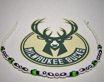 Bucks Bracelet, Morse Code Bracelet, Basketball Bracelet
