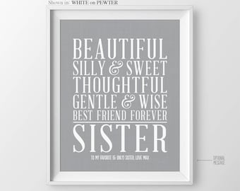 Christmas Gift for Sisters Birthday Gift for Sister Christmas Present for Sister Best Friend Gift for Maid of Honor Sister Gift from Sisters