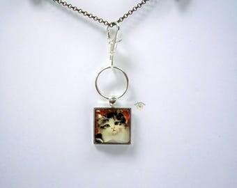 Vintage Image Kitty Key Chain