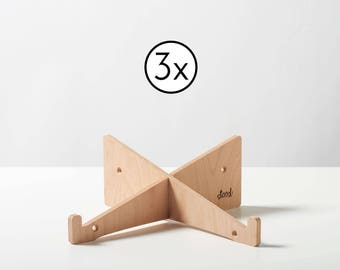 3x Laptop Stand made of Wood (Small Office Pack)
