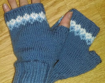 Hand Knitted  Fingerless gloves /Arm warmers /Wrist warmers/Long Fingerless Mittens/Women's fingerless/Gift for her