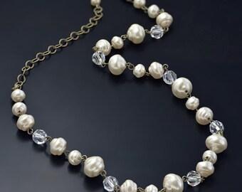 Baroque Pearl Necklace N580