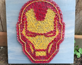 MADE TO ORDER- Ironman String Art- Superhero Wall Art