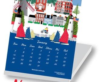 2018 Nantucket Jewel Case Calendar