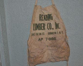 Old Reading Lumber Co. Bib, Brooklyn 7, N.Y.