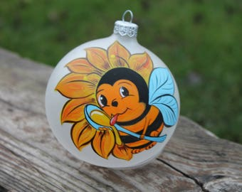 Bumble Bee Painted Ornament