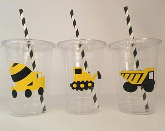 Construction party cups, Construction birthday party, Tool Party