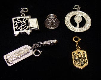 Vintage jewelry lot-old Sarah coventry jewelry-sarah coventry sales representative lot-vintage sarah coventry sterling pin-old sarah pendant