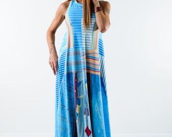 Woman Long dress / Long loose dress / Maxi dress / Open back dress /Summer dress / Sleeveless dress
