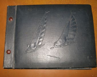 Vintage Soviet photo album from 290 photos,27 sheets. USSR 1960-1980