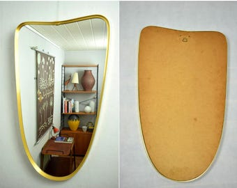Large Mid Century mirror / wall mirror / hall mirror | 50s  | Germany