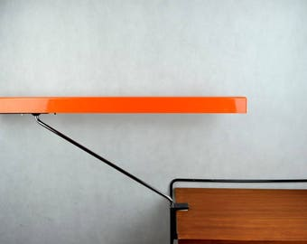 Rare German Architec Lamp, Functional Clamp-on Lamp | Desk Lamp Adjustable Arm Light, oraage Space AGe 1970s