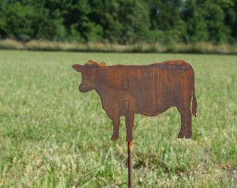 Metal Cow Stake, SHIPS FREE!!! Cow Yard Sign, Dairy yard sign, Dairy decor, Dairy Cow Decor, garden marker, cattle yard sign, cow stake