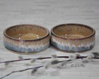 Pottery, Wheel Thrown Pottery, Bowls, Pet Bowls, Dip Bowls, Salsa Bowls, Condiments, Ceramics, Stoneware, Functional, Gift, Cat Bowls, Small