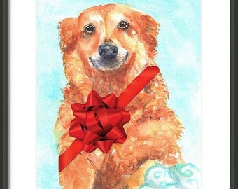 Custom Dog portrait, Dog Painting, Dog Watercolor, Commission dog painting, Personalized dog art, Pet sitter gift, gift for Dog lover