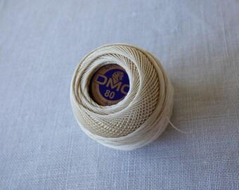 Cotton lace n ° 80 DMC No. Ecru Pincushion 5gr